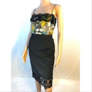 Dolce & Gabbana  Strap Sleeve Sheath Dress Lace S